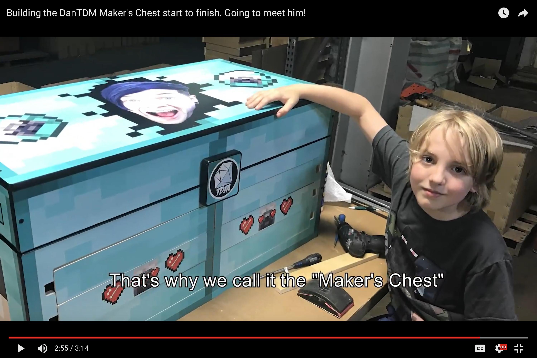 Building Maker Tumblr : Building the dantdm maker s chest start to finish going